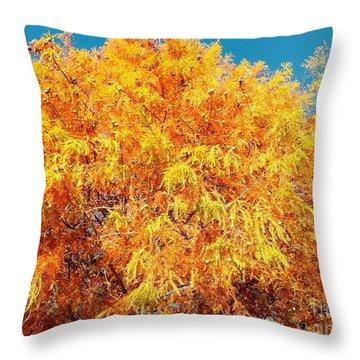 Golden Cypress  Throw Pillow