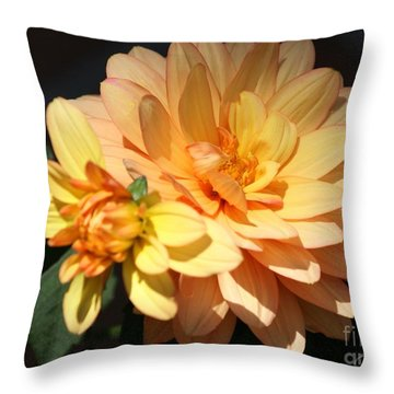 Golden Dahlia With Bud Throw Pillow