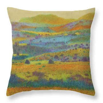 Golden Dakota Day Dream Throw Pillow
