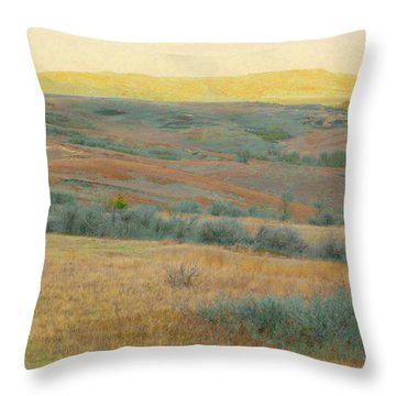 Golden Dakota Horizon Dream Throw Pillow