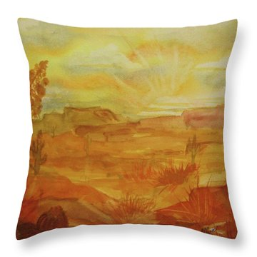 Golden Dawn Throw Pillow