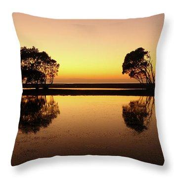 Golden Dawn Throw Pillow