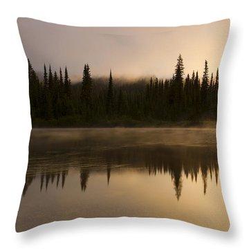 Golden Dawn Throw Pillow by Mike  Dawson