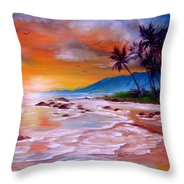 Golden Dawn Throw Pillow by Patrice Torrillo