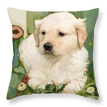 Golden Day Throw Pillow by Carrie Joy Byrnes