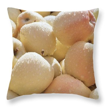 Golden Delicious Throw Pillow by Laurie Stewart
