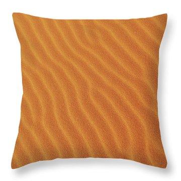 Golden Desert Sands Throw Pillow
