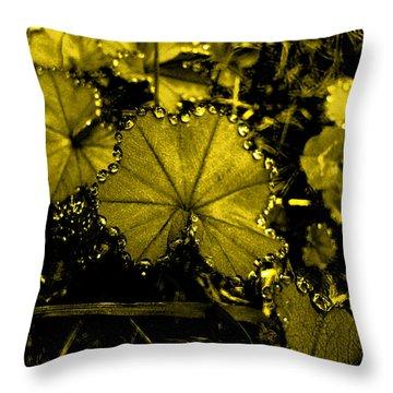 Golden Dew Throw Pillow