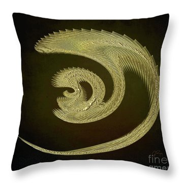Golden Dragon Abstract Throw Pillow