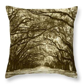 Golden Dream World Throw Pillow by Carol Groenen