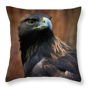 Golden Eagle 4 Throw Pillow