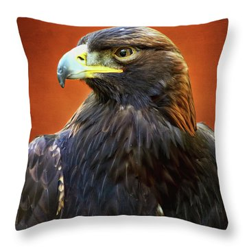 Golden Eagle Throw Pillow