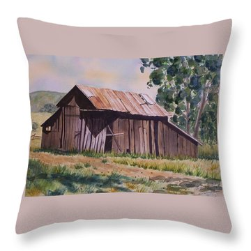 Golden Eagle Ranch Barn Throw Pillow