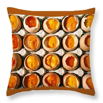 Golden Eggs 2 Throw Pillow by Mark Cawood