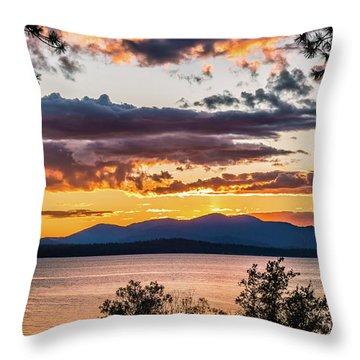 Golden Equinox Throw Pillow