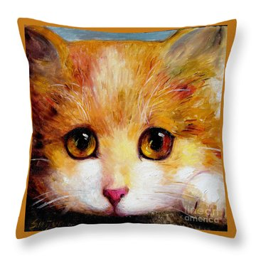 Golden Eye Throw Pillow by Shijun Munns