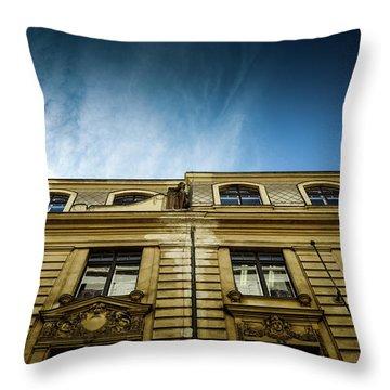 Golden Facade Throw Pillow