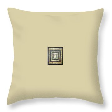 Golden Fortress Throw Pillow