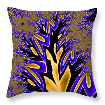 Throw Pillow featuring the photograph Golden Fractal Tree by Ronda Broatch