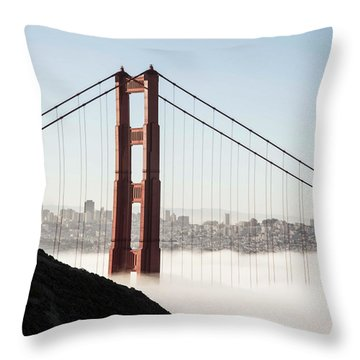 Throw Pillow featuring the photograph Golden Gate And Marin Highlands by David Bearden