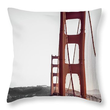 Golden Gate Black And Red Throw Pillow