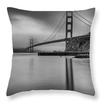 Golden Gate Black And White Throw Pillow