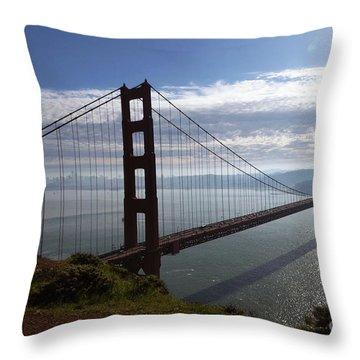 Throw Pillow featuring the photograph Golden Gate Bridge-2 by Steven Spak