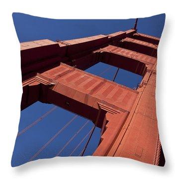 Golden Gate Bridge At An Angle Throw Pillow by Garry Gay