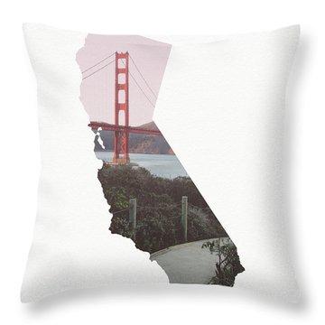 Golden Gate Bridge California- Art By Linda Woods Throw Pillow