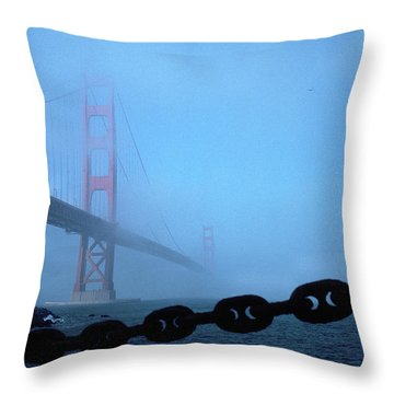 Golden Gate Bridge From Fort Point Throw Pillow