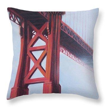 Golden Gate Bridge Throw Pillow by Kean Butterfield