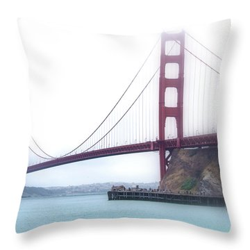 Throw Pillow featuring the photograph Golden Gate Bridge by Laura DAddona