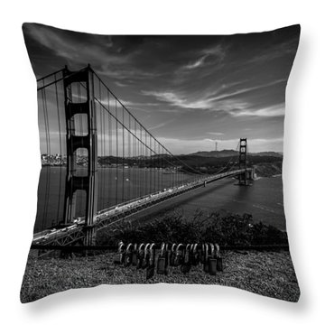 Golden Gate Bridge Locks Of Love Throw Pillow