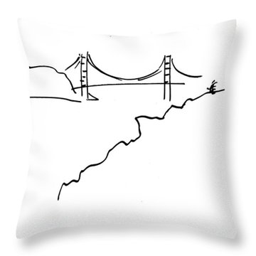 Golden Gate Bridge Throw Pillow by Patrick Morgan