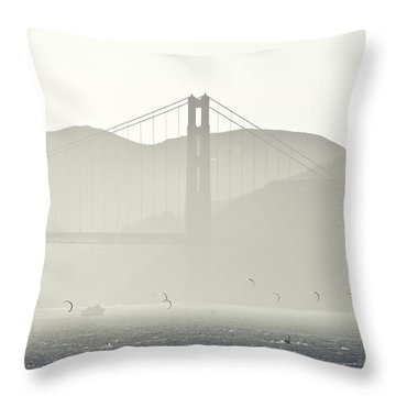 Golden Gate Bridge Throw Pillow by Paul Plaine