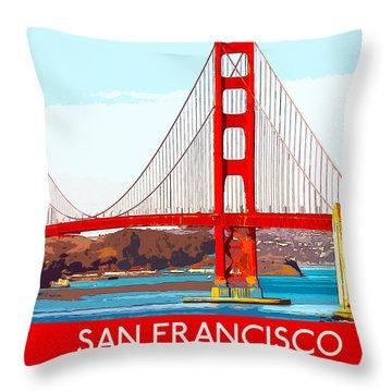 Golden Gate Bridge San Francisco The City By The Bay Throw Pillow
