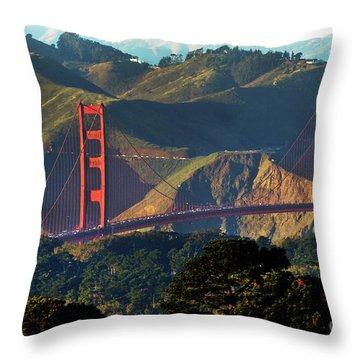 Throw Pillow featuring the photograph Golden Gate Bridge by Steven Spak