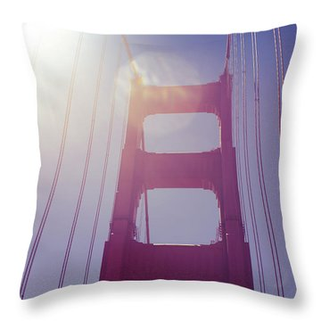 Golden Gate Bridge The Iconic Landmark Of San Francisco Throw Pillow