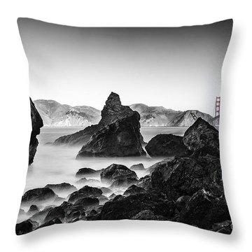 Throw Pillow featuring the photograph Golden Gate Colour by Chris Cousins