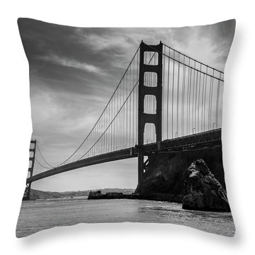 Golden Gate East Bw Throw Pillow