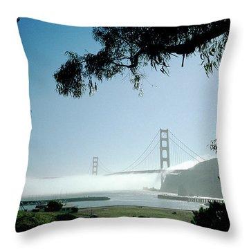 Golden Gate Fog  Throw Pillow