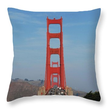 Golden Gate Head On Throw Pillow
