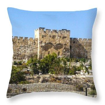 Golden Gate Jerusalem Israel Throw Pillow