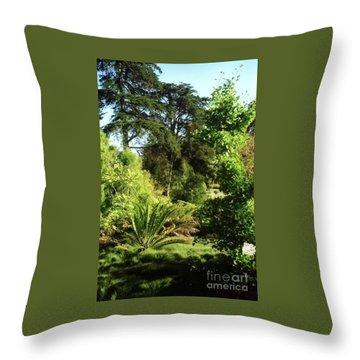 Golden Gate Park Plants Throw Pillow