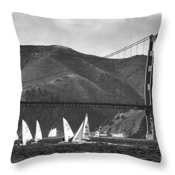 Golden Gate Seascape Throw Pillow