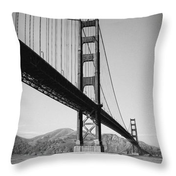Golden Gate Throw Pillow by Tanya Harrison