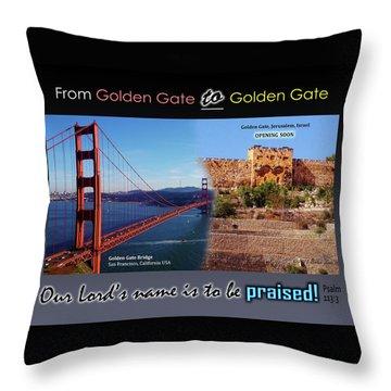 Golden Gate To Golden Gate Throw Pillow