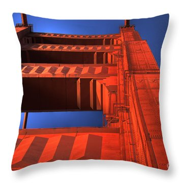 Golden Gate Tower Throw Pillow by Jim And Emily Bush