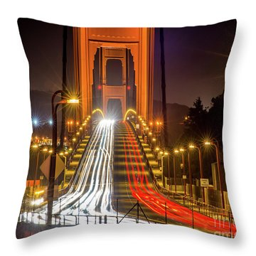 Golden Gate Traffic Throw Pillow