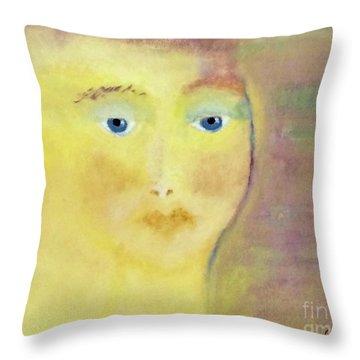 Golden Girl Throw Pillow